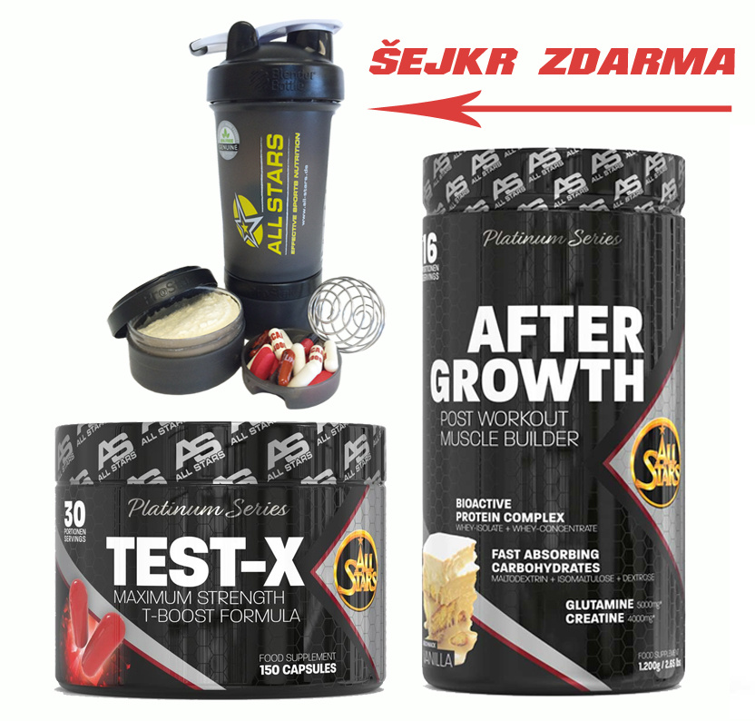 After Growth+Test-X+šejkr s pillboxem